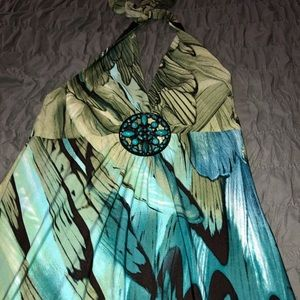 Beautiful turquoise and green dress